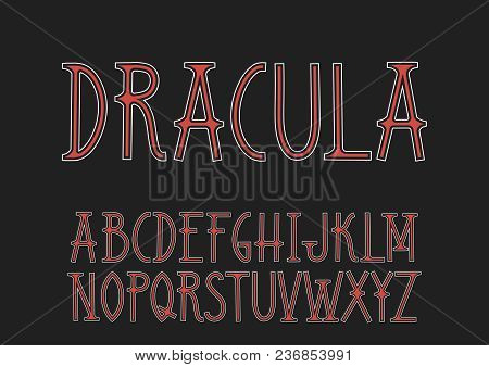 Vector Uppercase Red And White Font