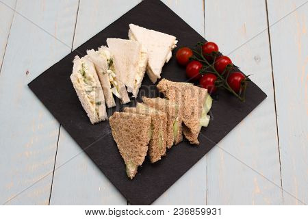 Vegetarian Sandwiches A Selection Of Vegetarian Sandwiches Egg And Cress Cucumber