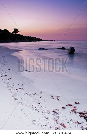 Photo taken during sunrise in Villasimius, Sardina poster