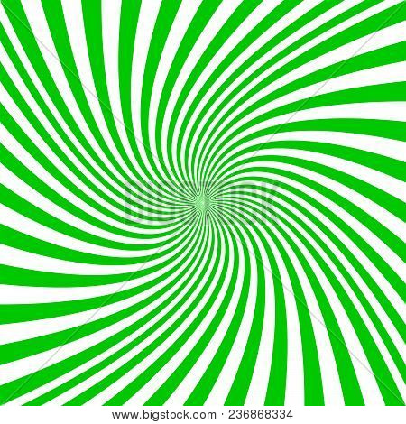 Green And White Spiral Design Background - Vector Graphics