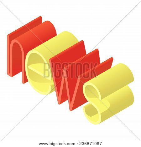 Publication News Icon. Isometric Illustration Of Publication News Vector Icon For Web