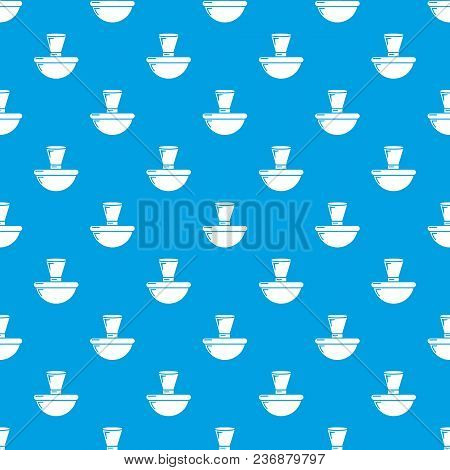 Perfume Bottle London Pattern Vector Seamless Blue Repeat For Any Use