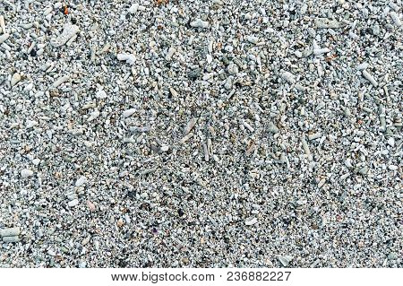 Coral Beach Sand Closeup For Background. Tropical Beach Photo. Exotic Island Sandy Beach Texture. Ro