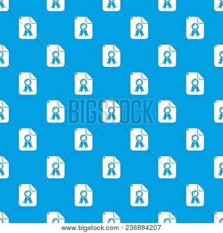 Certificate Pattern Vector Seamless Blue Repeat For Any Use