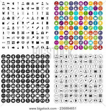 100 Ambulance Icons Set Vector In 4 Variant For Any Web Design Isolated On White