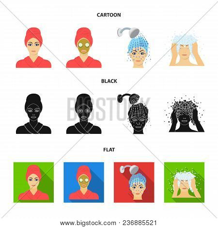 Hands, Hygiene, Cosmetology And Other  Icon In Cartoon, Black, Flat Style.bath, Clothes, Means Icons