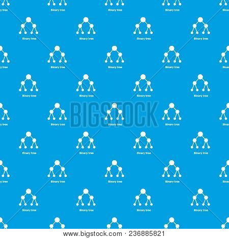 Binnary Tree Pattern Vector Seamless Blue Repeat For Any Use