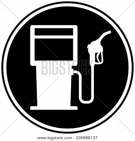Fuel Pump Icon - A Vector Cartoon Illustration Of A Gas Pump Icon Concept.