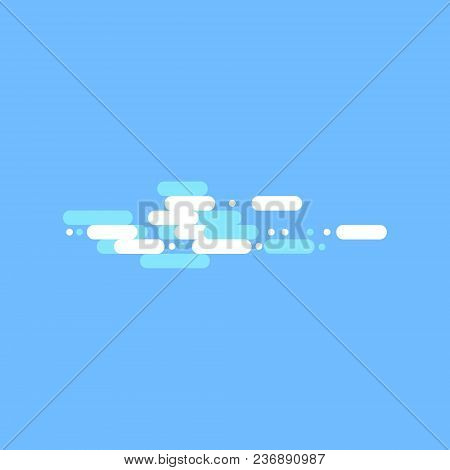 Blue Sky With White Clouds. Vector Stock Illustration.