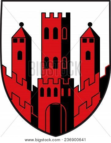 Coat Of Arms Of Dinslaken Is A Town In The District Of Wesel, In North Rhine-westphalia, Germany. Ve