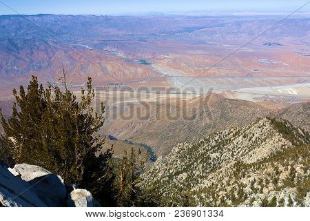 Rugged Terrain Overlooking The Desert Taken At Mt San Jacinto Peak, Ca