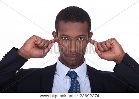 Fingers on ears