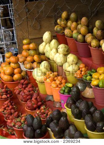 Fruitstand In Chiapas