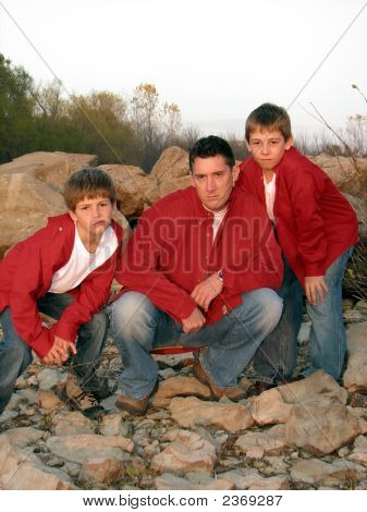 Tough Guys - Daddy & 2 Sons