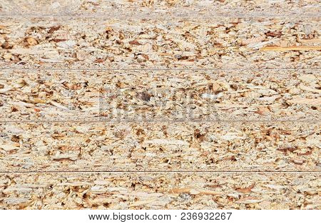Shot Of Wooden Textured Chipboard Background, Close Up