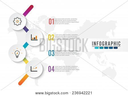 Infographic Element With Four Options. Vector Illustrator