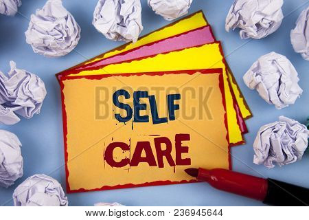 Word Writing Text Self Care. Business Concept For Protection You Give To Yourself Individual Control