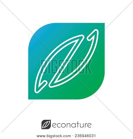 Nature And Initial Letter En Logo Concept. Logo Template