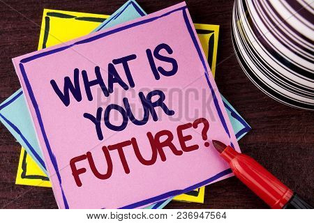 Word Writing Text What Is Your Future Question. Business Concept For Where Do You See Yourself In Th