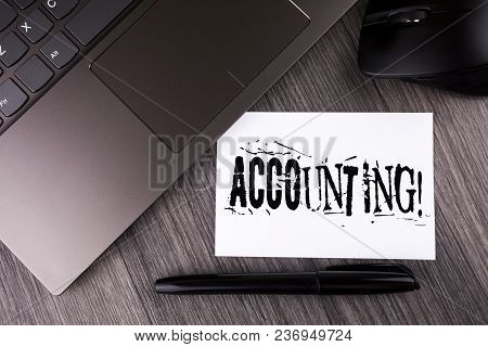 Writing Note Showing  Accounting Motivational Call. Business Photo Showcasing Account Inner Voice Mo