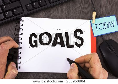 Handwriting Text Goals. Concept Meaning Desired Achievements Targets What You Want To Accomplish In