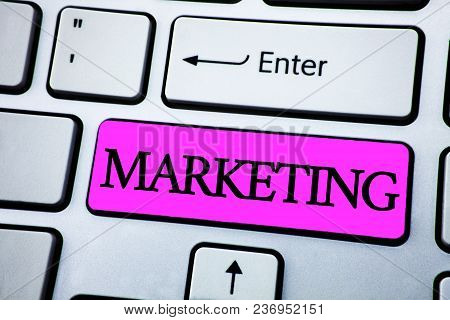 Text Sign Showing Marketing. Conceptual Photo Advertising Selling Products From A Company To Promote