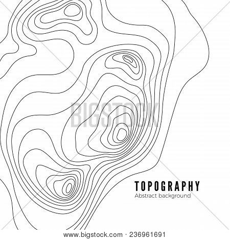 Landscape Geodesy Topography Map Line Texture. Vector Background Pattern
