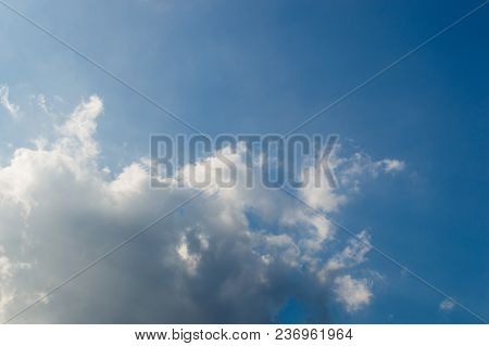 Blue Sky With White Clouds For Background