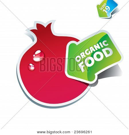 Icon Pomegranate With The Arrow By Organic Food.