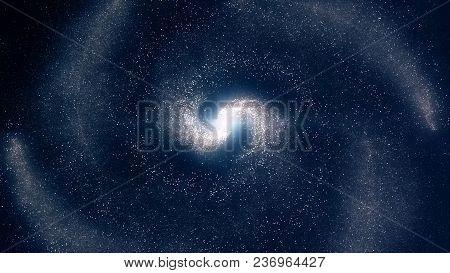 Galaxy. Beautiful Spiral Galaxy Somewhere In Deep Space. Spiral Galaxy.