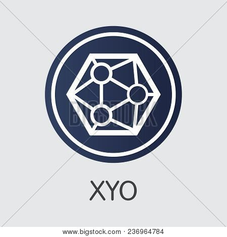Xyo Vector Sign Icon For Internet Money. Blockchain Cryptocurrency Web Icon Of Xyo And Coin Image Fo