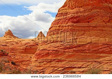 Cottonwood Teepees, A Rock Formation Near The Wave At Coyote Buttes South Cbs, Paria Canyon Vermilli