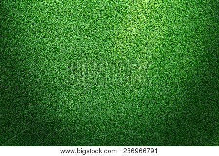 Artificial Grass. Grass Texture Or Grass Background. Green Grass For Golf Course, Soccer Field Or Sp