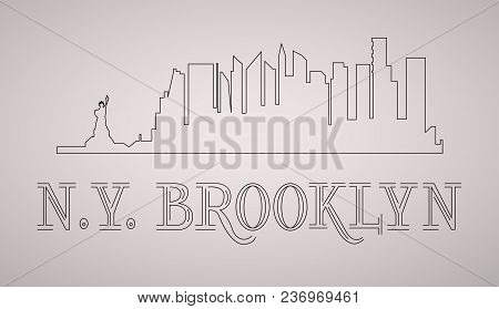n y brooklyn skyline vector photo free trial bigstock