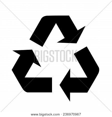 Recycle Icon In Trendy Flat Style Isolated On Background. Recycle Icon Page Symbol For Your Web Site
