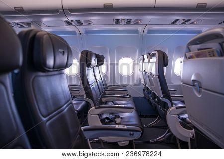 Airplane Interior, Seats And Window