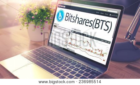 Website Of A Exchange Marketplace With Dynamics Of The Cost Change Of Bitshares - Bts On Notebook Sc