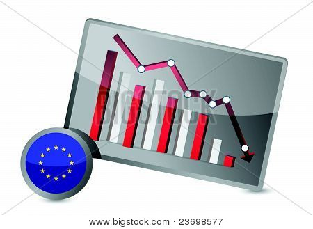 European union suffering crisis graph design
