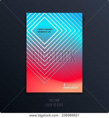 Abstract Graphic Design Of Brochure In Fluid Liquid Style. Modern Catalog Cover Template, Flyer In A