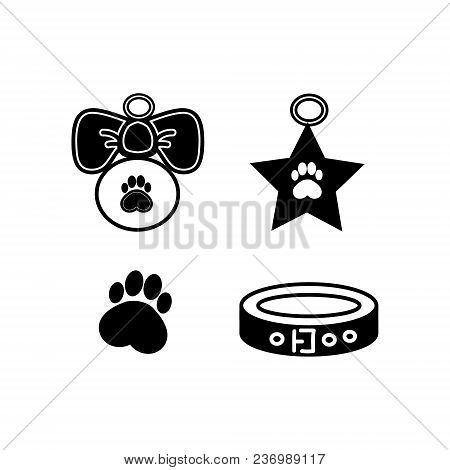 Dog Badges For Your Site, A Collar And Locket With Paw