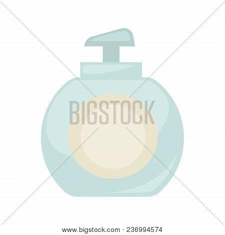 Liquid Soap Bottle Or Body Lotion Cosmetics Product Icon. Vector Isolated Plastic Bottle Or Moisturi