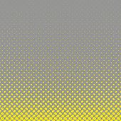 Geometrical halftone ellipse pattern background - vector graphic from yellow diagonal elliptical dots on grey background poster