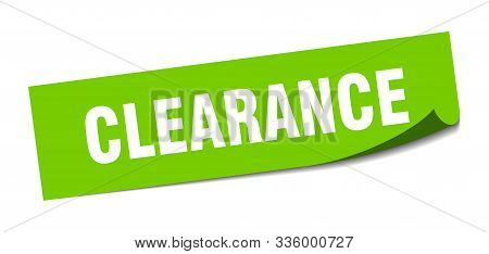Clearance Sticker. Clearance Square Isolated Sign. Clearance