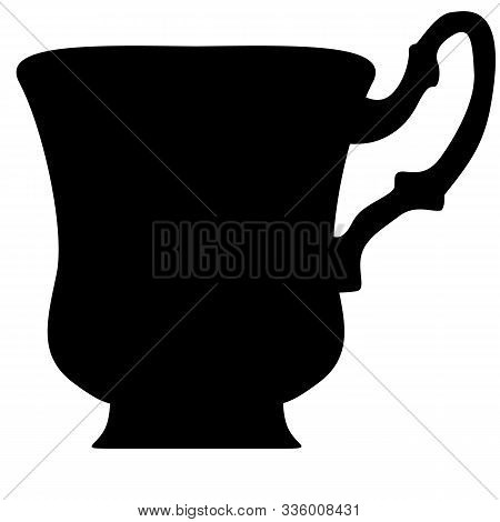 Black Cup Of Tea Or Coffee On White
