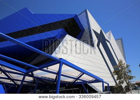 Perth, Australia - December 21, 2012: Perth Arena Is A Sporting And Entertainment Arena In The Centr