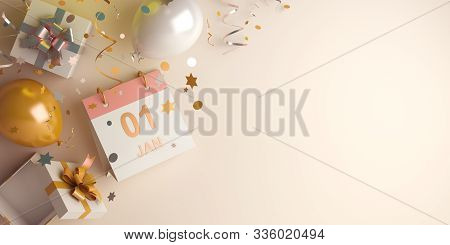 Happy New Year 2020, New Year Background, New Year Banner, New Year Abstract, New Year 3d, New Year