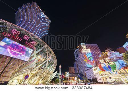 Macau, China - June 30, 2016: Grand Casino Lisboa On June 30, 2016 In Macau. Macau Is The World Top
