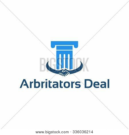 Modern Arbitrators Deal Logo Concept Designs Template