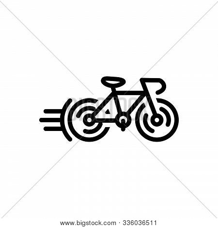 Black Line Icon For  Cycle-race Bicycle  Competition  Cycle   Cycleing  Race  Street