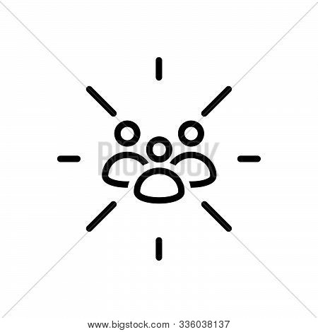 Black Line Icon For  Focus-group Focus Group  Team Cluster Conglomeration Congregation